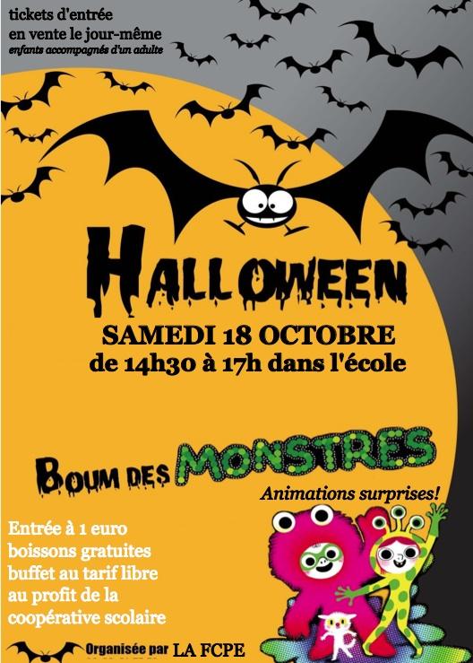 Affiche Boum Halloween 2014
