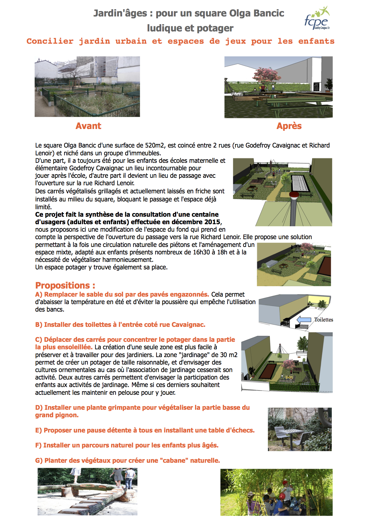 Projet FCPE budget participatif Olga Bancic