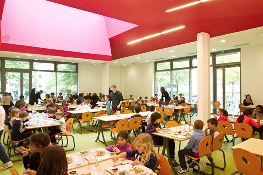 inauguration cantine ecole schuman + repas faible cout carbone