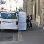 Caravane de la FCPE nationale / La FCPE va à la rencontre des parents dans les départements français / 75 Paris 18 / Région Ile-de-France / France