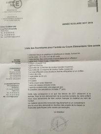 liste CE1