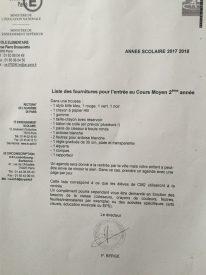 liste CM2