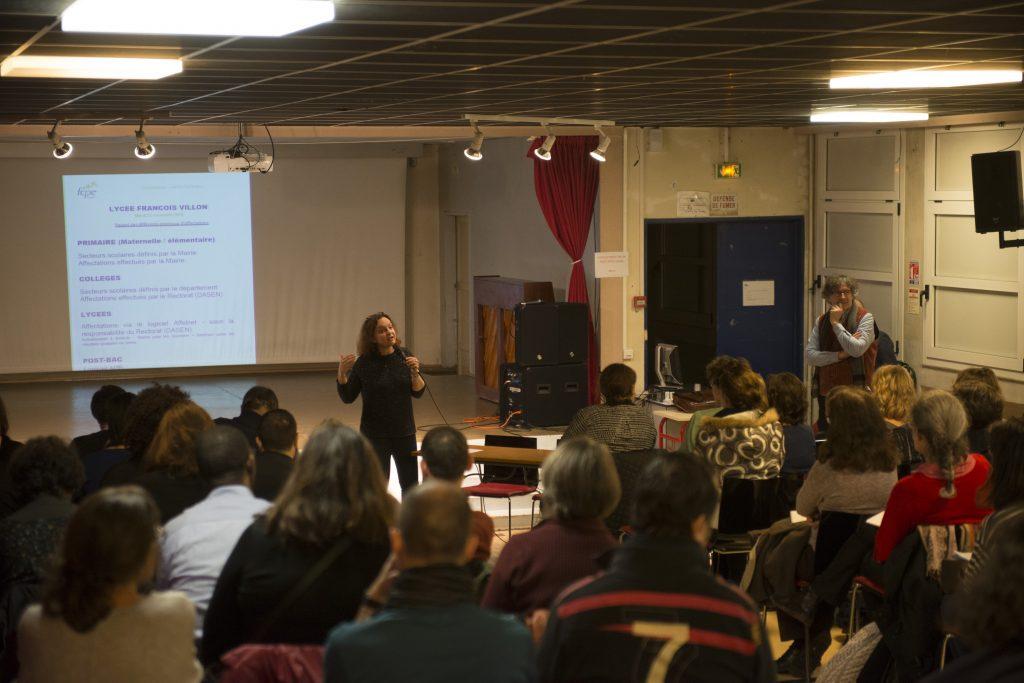 Commission Affectations FCPE 75  / Cité scolaire Francois Villon / 75 Paris 14 / Région Ile-de-France / France