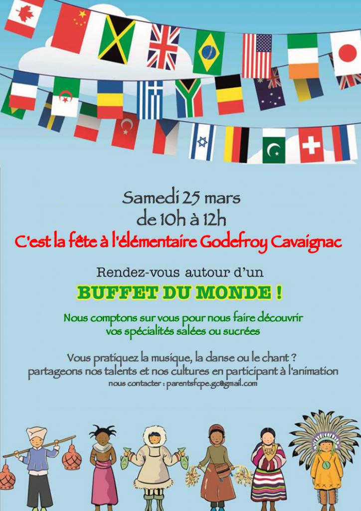 Affiche buffet du monde 2017