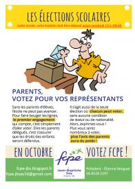 Octobre 2017: Votez FCPE